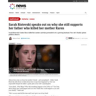 Sarah Ristevski on why she still supports her killer dad Borce - 60 Minutes
