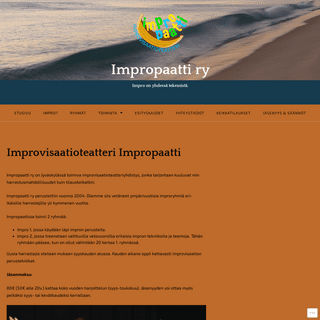 Impropaatti ry – Impro on yhdessä tekemistä.