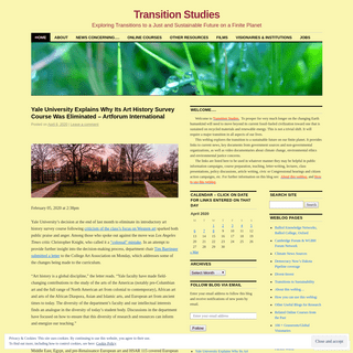 Transition Studies - Exploring Transitions to a Just and Sustainable Future on a Finite Planet