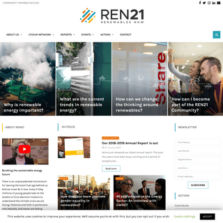 REN21 - Building the sustainable energy future with renewable energy