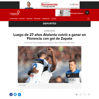 Serie A resultado Atalanta Vs Fiorentina- Luego de 27 años Atalanta volvió a ganar en Florencia con gol de Zapata - Deportes -