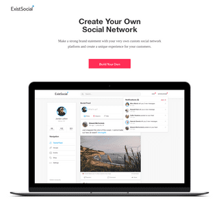 ExistSocial - Create Your Own Social Network