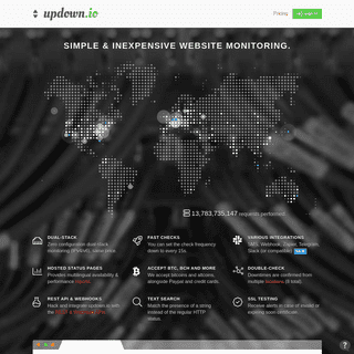 updown.io – Website monitoring, simple and inexpensive