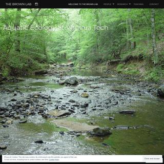 The Brown Lab – Aquatic Ecology at Virginia Tech