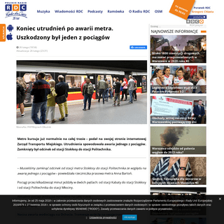 Koniec utrudnień po awarii metra. Uszkodzony był jeden z pociągów – Warszawa i Mazowsze – najnowsze wiadomości w RDC