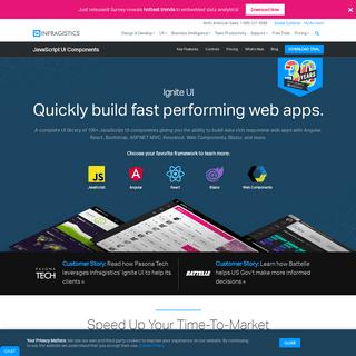 JavaScript UI Design Software & User Interface Components - Infragistics