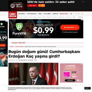 Bugün doğum günü! Cumhurbaşkanı Erdoğan Kaç yaşına girdi- - Günün Haberleri