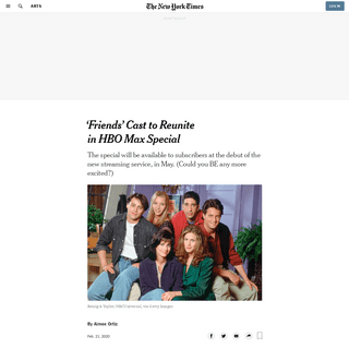 ArchiveBay.com - www.nytimes.com/2020/02/21/arts/hbo-max-friends-reunion.html - 'Friends' Cast to Reunite in HBO Max Special - The New York Times