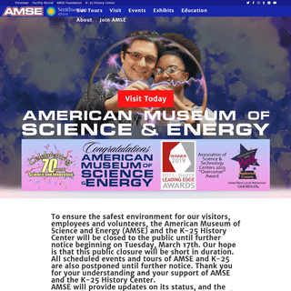American Museum of Science and Energy – Where Science and History Come Alive