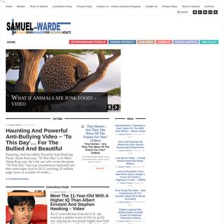 Samuel Warde, Writer - 24-Hour News Magazine For Discerning Adults