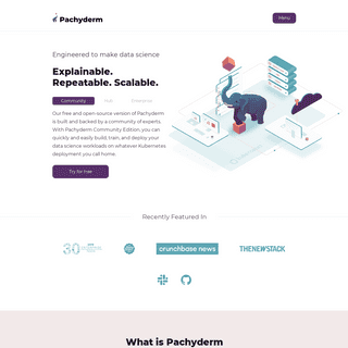 Pachyderm - Version-controlled data science