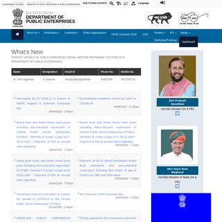 Home - Department of Public Enterprises - MoHI&PE - GoI