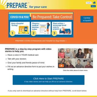 A complete backup of prepareforyourcare.org