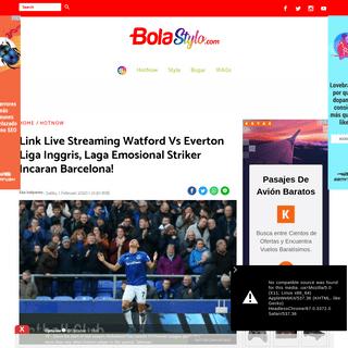 ArchiveBay.com - bolastylo.bolasport.com/read/172008249/link-live-streaming-watford-vs-everton-liga-inggris-laga-emosional-striker-incaran-barcelona?page=all - Link Live Streaming Watford Vs Everton Liga Inggris, Laga Emosional Striker Incaran Barcelona! - Semua Halaman - bolastylo.bolas