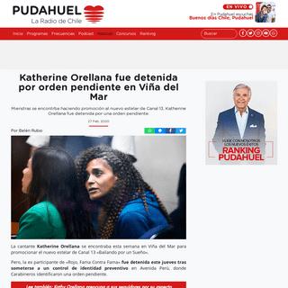 Katherine Orellana fue detenida por orden pendiente en Viña del Mar