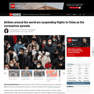 British Airways and other carriers suspend flights to China as coronavirus spreads - CNN