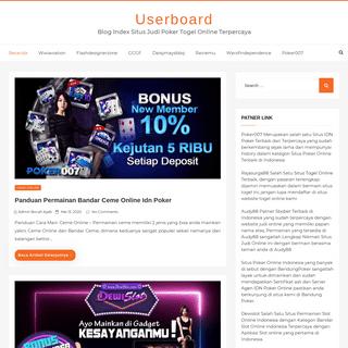 Userboard - Blog Index Situs Judi Poker Togel Online Terpercaya