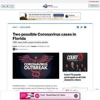 Two possible Coronavirus cases in Florida