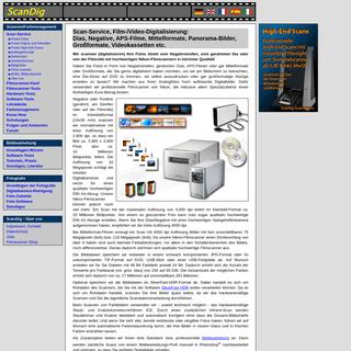 Scan-Service Dias Scannen Negative Scannen Fotos APS-Filme Mittelformate digitalisieren; Dienstleistung Scanservice, Video-Digit