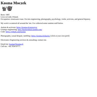 Kosma Moczek