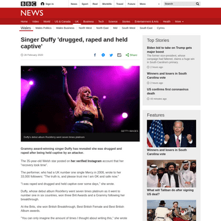 ArchiveBay.com - www.bbc.co.uk/news/uk-wales-51637265 - Singer Duffy 'drugged, raped and held captive' - BBC News