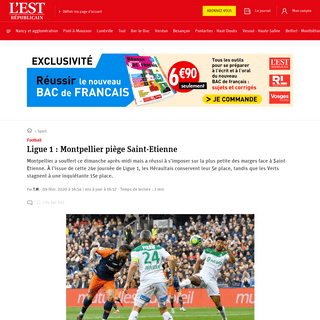 Sport - Ligue 1 - Montpellier piège Saint-Etienne