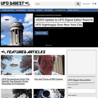 UFO DIGEST – UFO and Paranormal News From Around The World