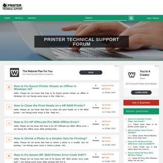 ArchiveBay.com - printerstechnicalsupport.com - Printer Technical Support - Customer Service Forum - Online Help