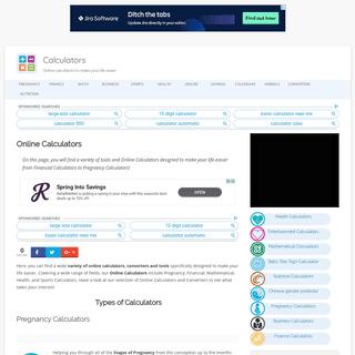 Online Calculators - Online Converters