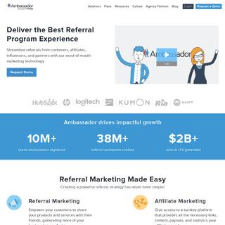 #1 Referral Marketing Software by Ambassador - World-Class Referral Programs