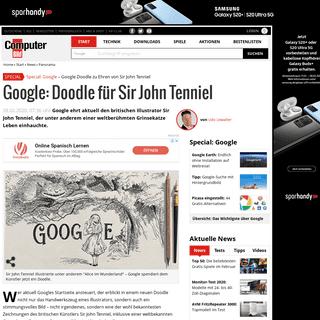 Google- Doodle für Sir John Tenniel - COMPUTER BILD