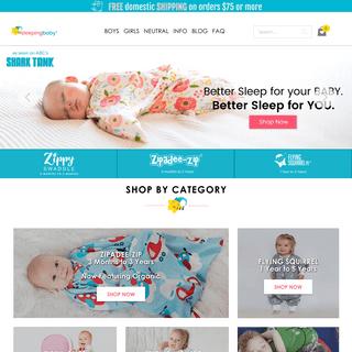 Sleeping Baby - Clothes Online- Swaddle Transition Zipadee-Zip - Sleeping Baby