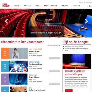 Zaantheater - het podium voor de Zaanstreek en omstreken