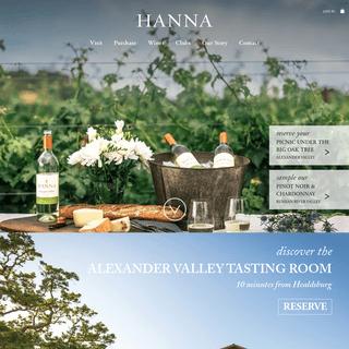 Hanna Winery Inc
