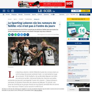 ArchiveBay.com - www.lesoir.be/281861/article/2020-02-21/le-sporting-lokeren-nie-les-rumeurs-de-faillite-ce-nest-pas-lordre-du-jour - Le Sporting Lokeren nie les rumeurs de faillite- «Ce n'est pas à l'ordre du jour» - Le Soir