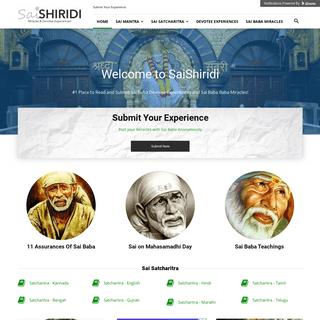 SaiShiridi - Sai Baba Miracles, Devotee Experiences, Satcharitra!