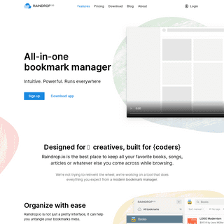 Raindrop.io — All-in-one bookmark manager