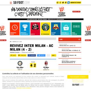 Revivez Inter Milan - AC Milan (4 - 2) - Serie A - J23 - 9 février 2020 - SOFOOT.com