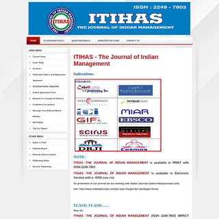 ArchiveBay.com - itihas.org - Welcome to the ITIHAS The Journal Of Indian Management