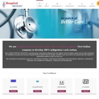 Hospital Devices India - Anaesthesia Machine Manufacturers, Anaesthesia Equipments, Anaesthesia Workstation, Anaesthesia Vaporiz