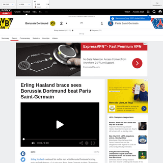 Borussia Dortmund vs. Paris Saint-Germain - Football Match Report - February 19, 2020 - ESPN