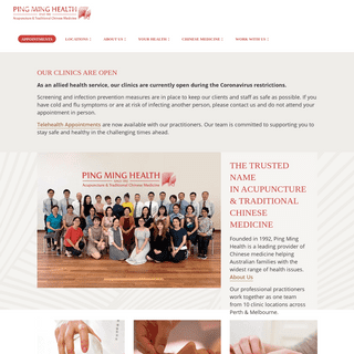 Acupuncture Perth & Traditional Chinese Medicine - Ping Ming Health