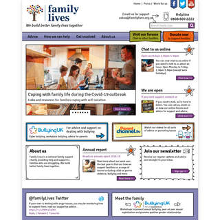 Parenting and Family Support - Family Lives (Parentline Plus)