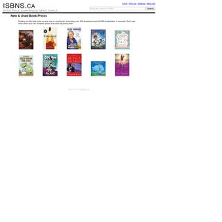 ISBNS.ca - Book Price Comparison Made Simple - ISBNS.ca