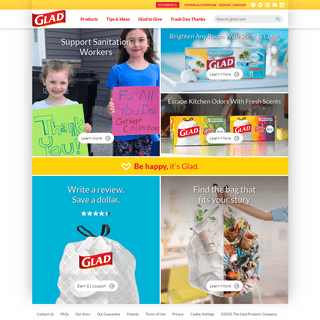 Glad® Food Storage Containers & Trash Bags