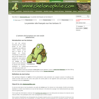 ArchiveBay.com - cheloniophilie.com - Tout l'univers des tortues sur un site.