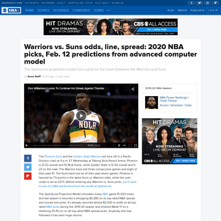 ArchiveBay.com - www.cbssports.com/nba/news/warriors-vs-suns-odds-line-spread-2020-nba-picks-feb-12-predictions-from-advanced-computer-model/ - Warriors vs. Suns odds, line, spread- 2020 NBA picks, Feb. 12 predictions from advanced computer model - CBSSports.com