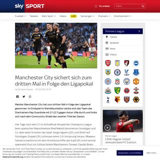 ArchiveBay.com - www.skysportaustria.at/premier-league/manchester-city-sichert-sich-zum-dritten-mal-in-folge-den-ligapokal/ - Manchester City sichert sich zum dritten Mal in Folge den Ligapokal - Sky Sport Austria