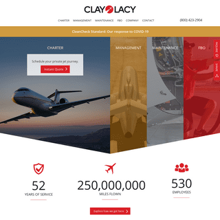 Clay Lacy Aviation - Private Jet Charter & Management Company