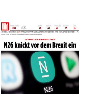 Smartphone-Bank- N26 macht alle Konten in Großbritannien dicht - Wirtschaft - Bild.de